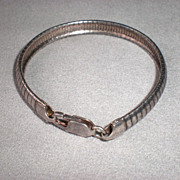 Wonderful Vintage Sterling Silver Reticulated Bracelet
