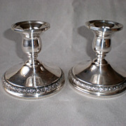 """Gorgeous International Silver """"Prelude"""" Candle Holders"""