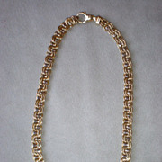 "Gorgeous 14k Yellow Gold Fancy Link 16"" Necklace"