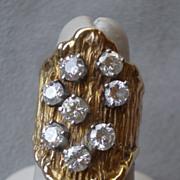 Monumental 14k Gold and Diamond Ring - 8 - 0.25ct Diamonds