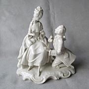 Dresden German Blanc de Chine Double Figurine
