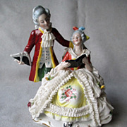German Dresden Lace Double Figurine