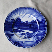 "Antique Booths ""Avon Ware"" Flow Blue Plate"