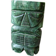 Carved Mexican Jade Aztec Figure