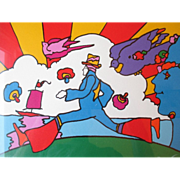 "Signed/ Numbered Serigraph by ""Peter Max (1937)"" - Cosmic Runner"