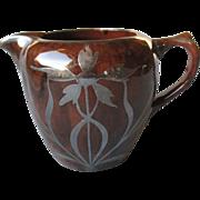 Gorgeous Silver Deposit Pottery Pitcher