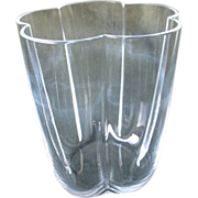 Gorgeous Steuben Art Glass Five Lobed Tall Vase