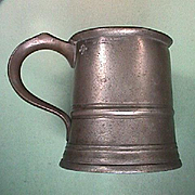 SALE Late 1800s Pewter Pint Tankard converted to Pitcher (G. Farmiloe and Sons, London)