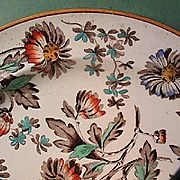 1880 (dated) Wedgwood Enameled Creamware Plate (Ovingtons Brooklyn / Chicago, importer)
