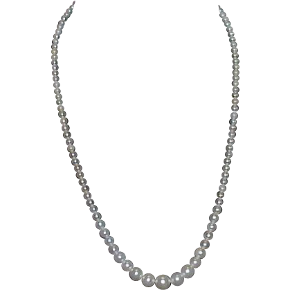 Strand of Faux Pearls, Marked Japan