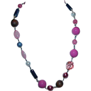 Funky Multi Bead Necklace