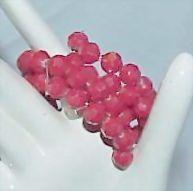 Red Acrylic Bead Spiral/Flex  Bracelet