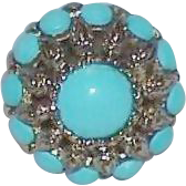 Vintage ACT II Faux Turquoise Bead Cocktail Ring