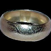 Gold Tone Metal Bangle Bracelet