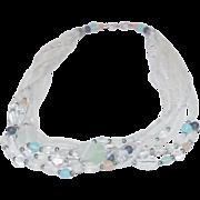 Artisan Made Multi Row, Multi Bead Necklace