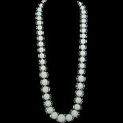 Dove Gray  Ceramic/Glass Bead Necklace