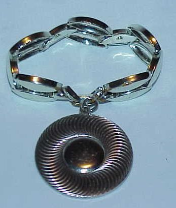 Stunning Silvertone Big, Bold Dangle Bracelet