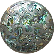 Mexican Sterling Abalone Brooch/Pendant