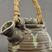SUPERB!  Meiji Period, Japanese Stoneware Tetsubin Kettle 1860 - 1928