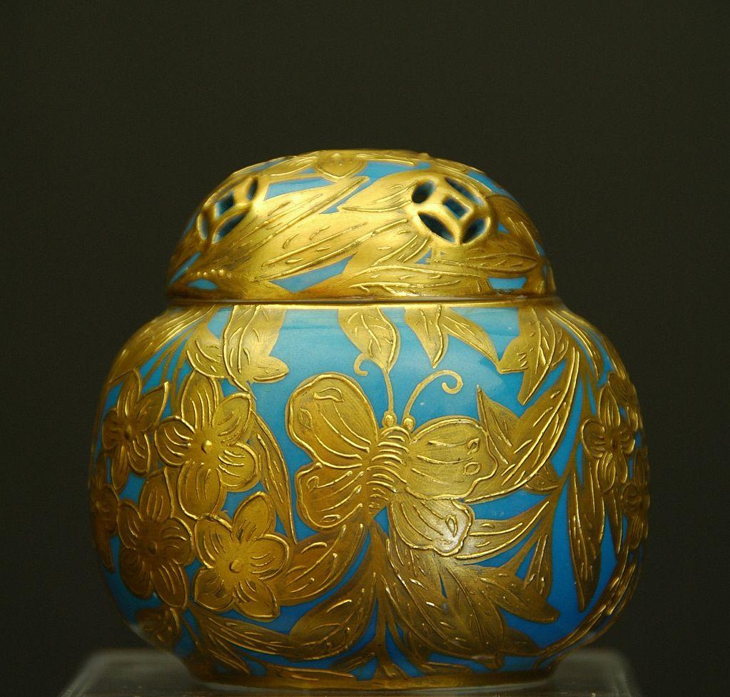 Rare Royal Crown Derby Gilt Pot Pourri c.1877