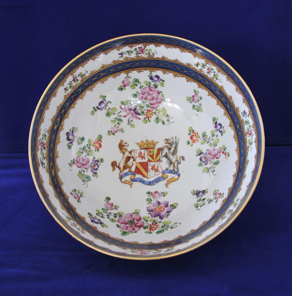 """French,""""Campagnie des Indes"""" Armorial Bowl, circa1873"""