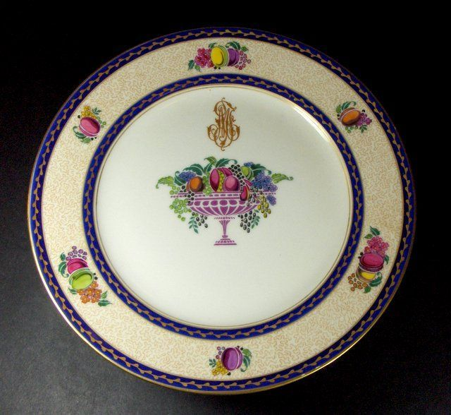 FABULOUS! 19th C. French  Limoges, 10  Plates  with Footed Compote