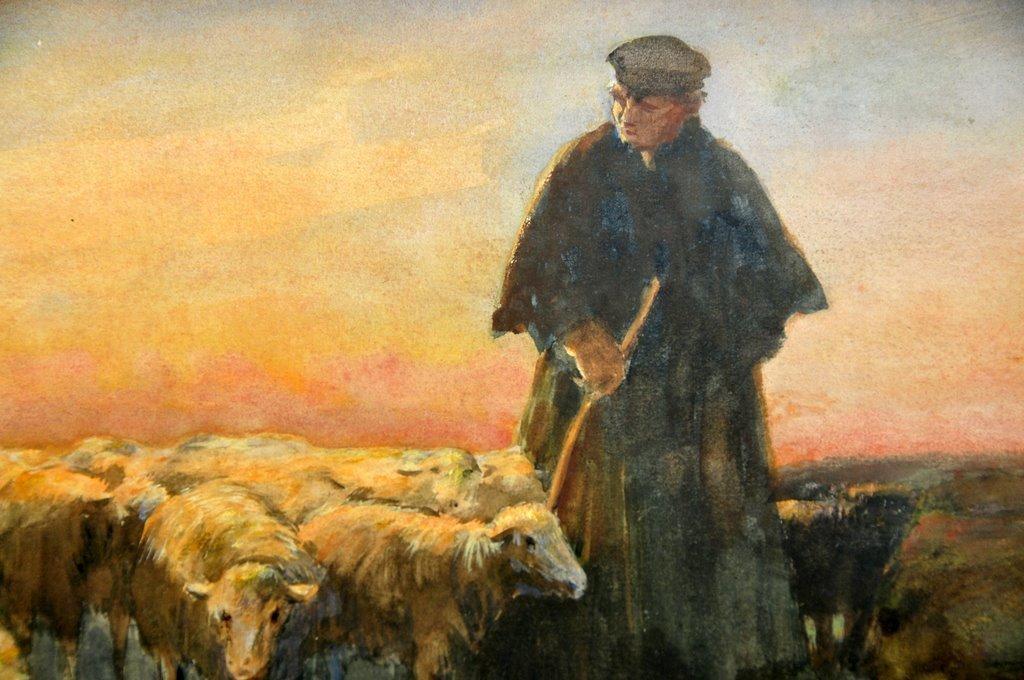 Dutch Watercolor,  Willem Steelink  II  (1856 - 1928)