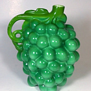 Rare!  Royal Bayreuth Figural Green Grape Syrup Pot