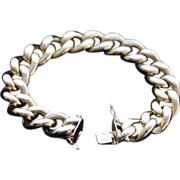 Extravagantly Beautiful ,  Italian 18K Yellow Gold Large Curb Link Bracelet, Unisex