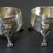 19th Century Antique Sheffield Silverplate Open Salts
