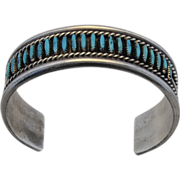 VINTAGE,  Native North American Zuni Turquoise Cuff