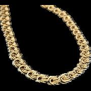Italian Vintage  18K  Gold  Byzantine Necklace