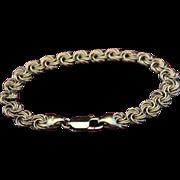 Italian 18kt Gold Byzantine Bracelet