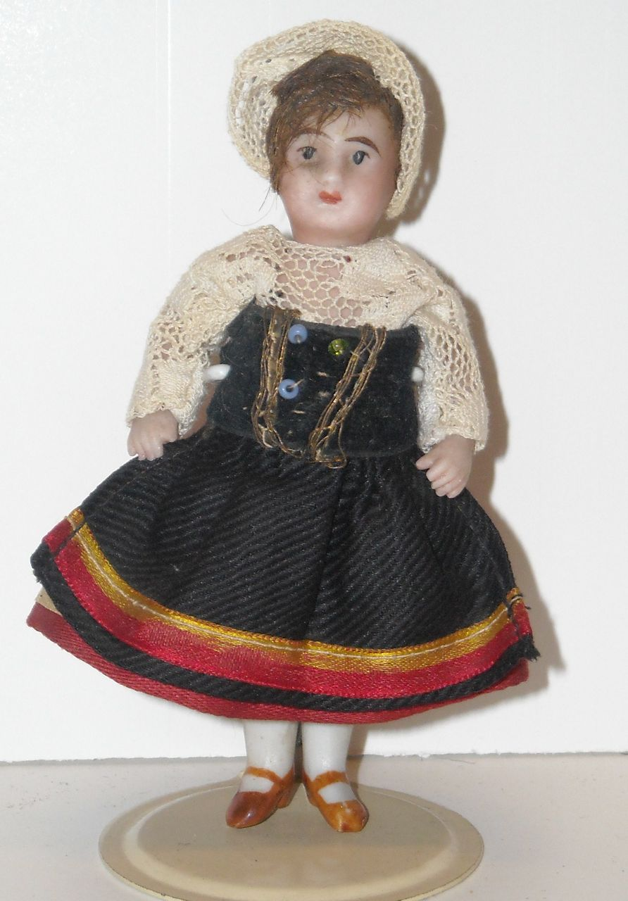 """3.5"""" French All Bisque Doll by SFBJ"""