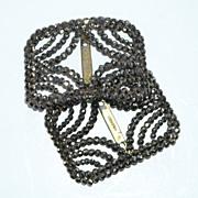 French Cut Steel Shoe Buckles ~ Bronze Tone