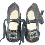 Dark Brown Doll Shoes