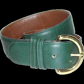 Coach Leather Belt 8500 Bottle Greene
