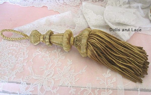 19th Century French Gold Bouillon Metallic Tassel Outstanding Circa 1850-1875