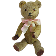 1930s American or English Teddy Bear Hot Water Bottle or Whisky Bottle