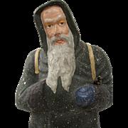 Santa or Father Christmas Papier Mache Figure Dating Circa 1890s-1900 Germany