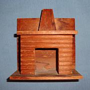 Wood Dollhouse Doll Vintage Miniature Fireplace