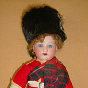 """Factory Original 8.5"""" German Bisque Doll on Ball Jointed Body Scott"""
