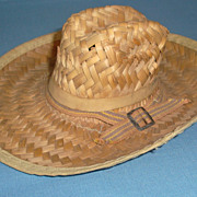 Vintage Straw Doll Hat or Salesman Sample