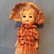 "6"" Vintage Sleep Eye All Bisque Doll"