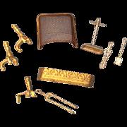 Miniature Dollhouse Doll Fireplace Items