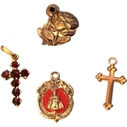 Tiny Religious Doll Jewelry Necklace Pendant Cross etc