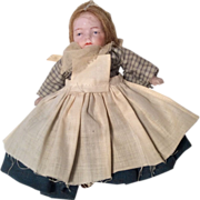 Pouty All Bisque Doll Antique German