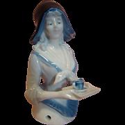 Chocolate Lady Half Doll  or Pincushion Doll, Incised 9194