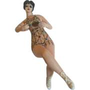 The Ultimate in Bathing Beauties--Egyptian Nudie in Provocative Jeweled Suit