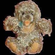1950's 10 Inch Shaggy Frosty Mohair German Steiff Zotty Bear, Button and Ear Tag,